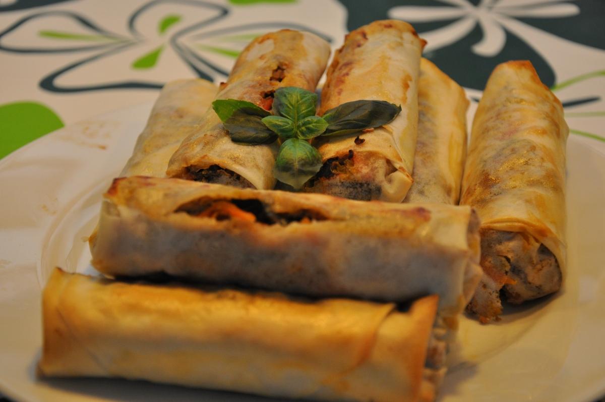 Sprøde thai forårsruller i ovnen - så er det ikke helt så usundt