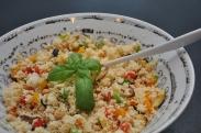 Couscous salat med grillede grøntsager