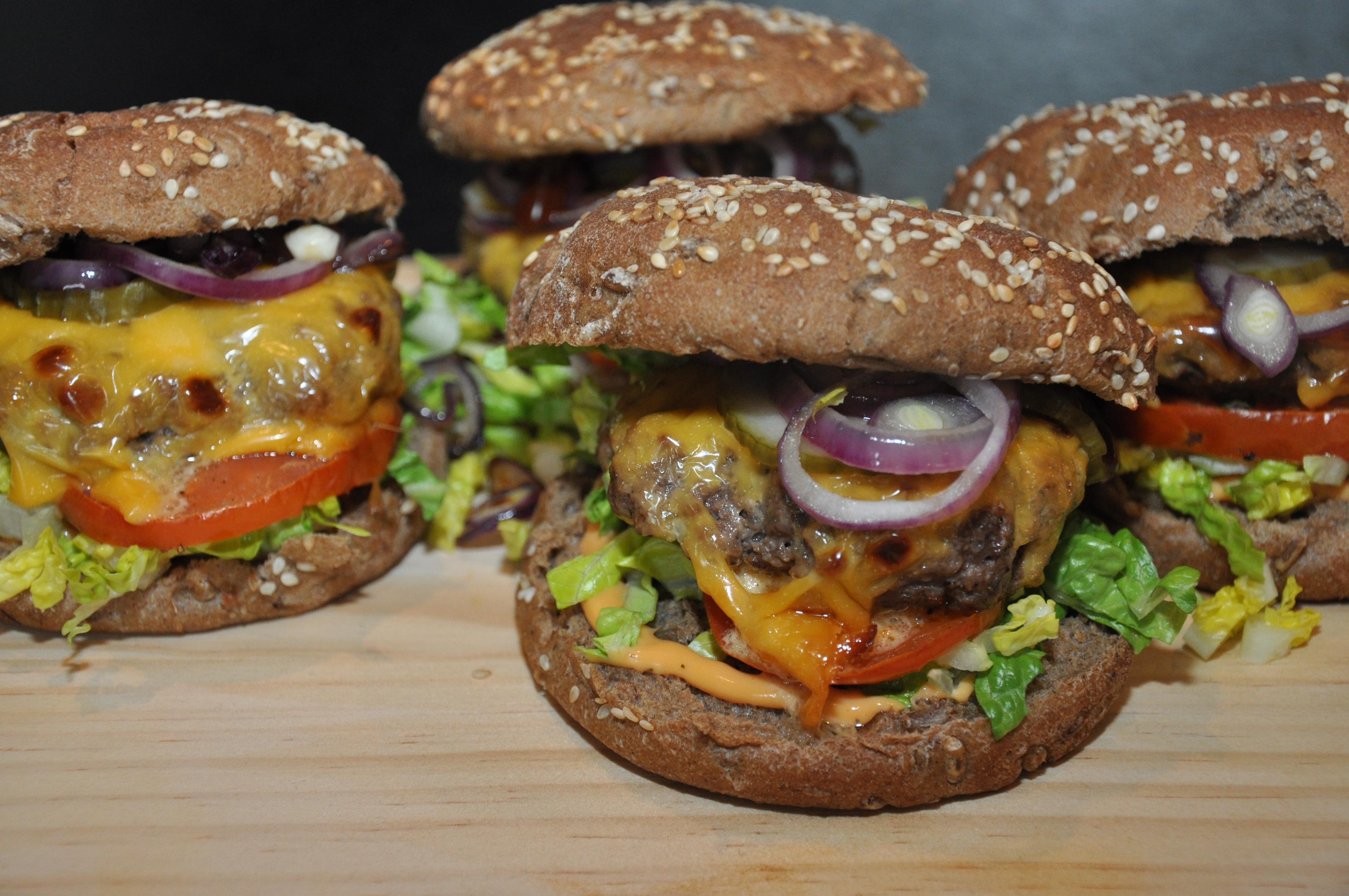 hjemmelavet gourmet burger