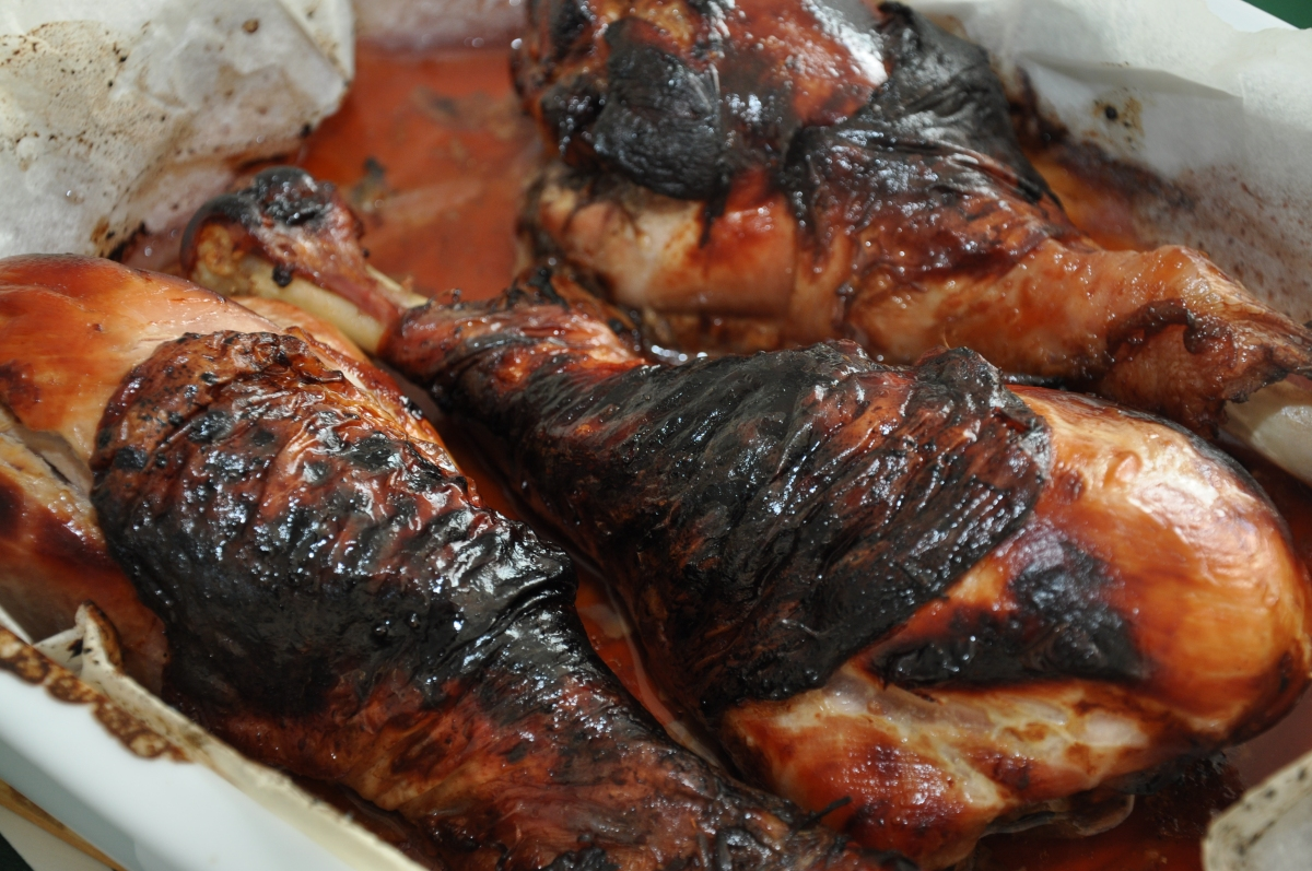 Sticky turkey - klistrede asiatisk inspirerede kalkunlår