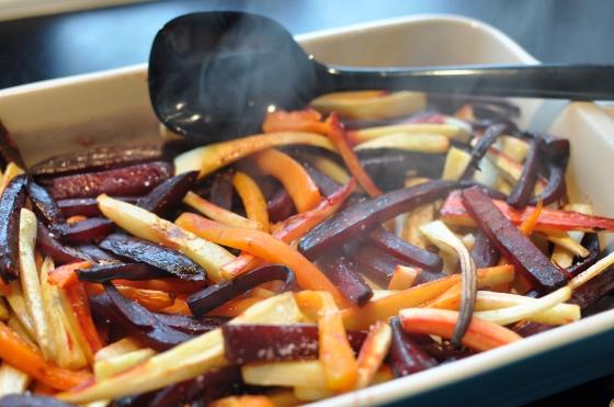 Rodfrugter i ovnen Billede: Camilla Lykke Jensen