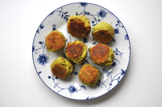Falafel med broccoli