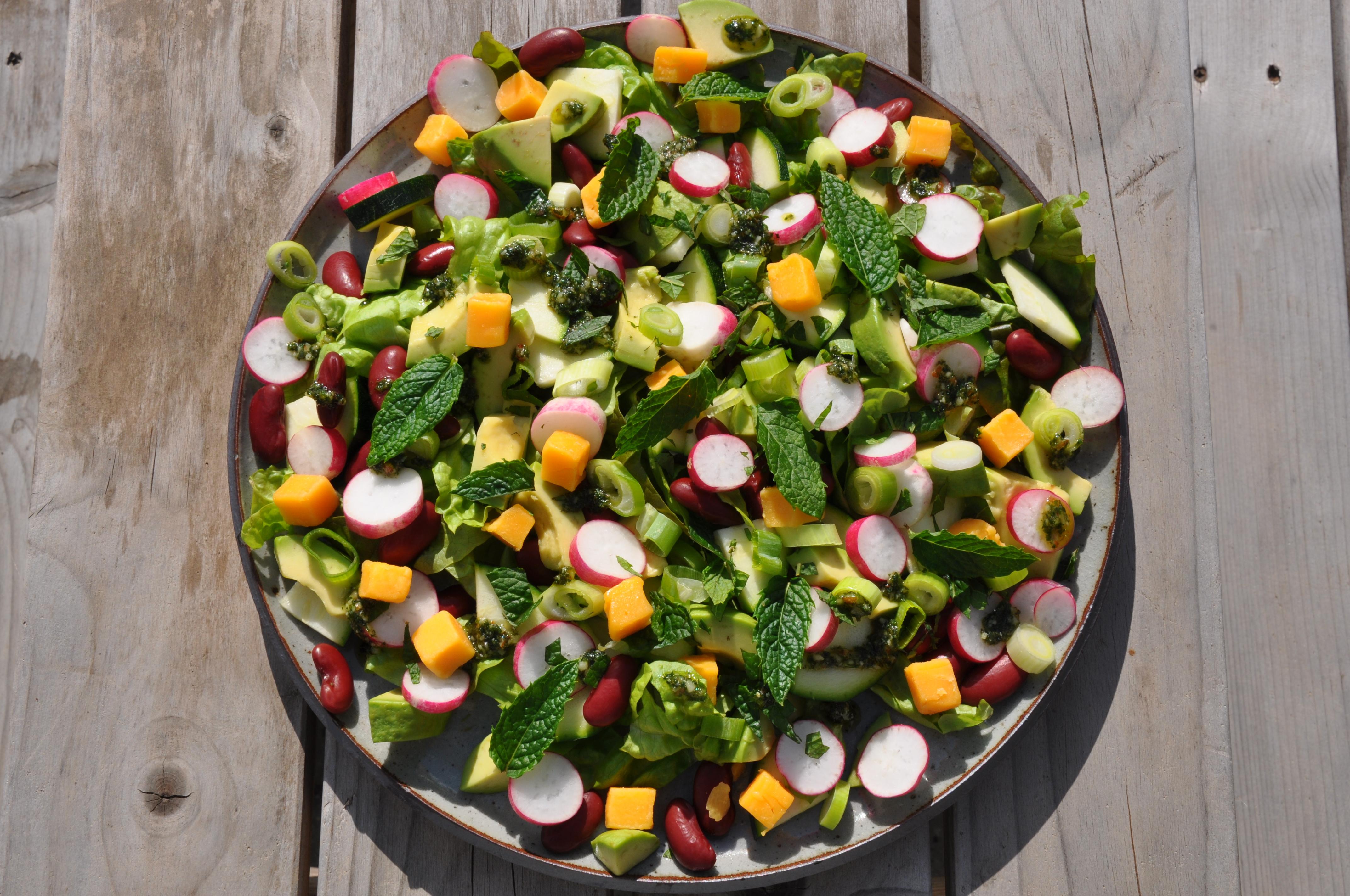 brune bønner salat